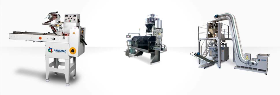 Machines for the main types of packaging: Flow-pack and stand up pouch.